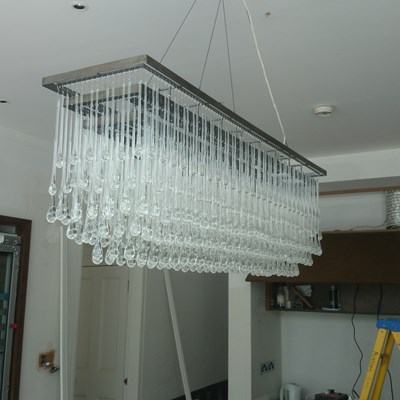 Sparkys And Co Electricians Hampshire, Hybris 8 Light Crystal Chandelier